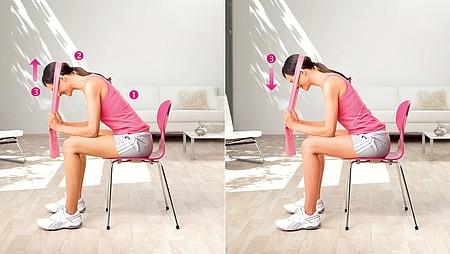 Inclinaison de la tête : exercice pour renforcer les muscles du cou - Inclinaison de la tête : exercice pour renforcer les muscles du cou