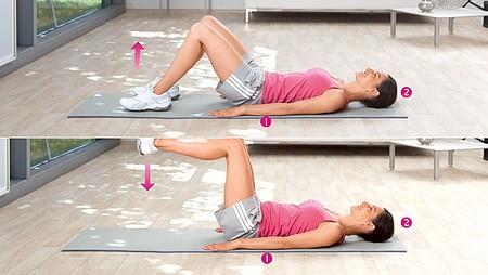 Élévation de la jambe : exercice pour renforcer les muscles abdominaux inférieurs et les fléchisseurs de hanche