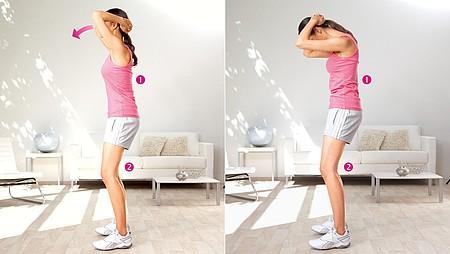 Appui sur la tête : exercice pour étirer les muscles du cou - Appui sur la tête : exercice pour étirer les muscles du cou
