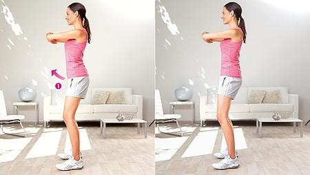Inclinaison de la hanche : exercice pour étirer la région de l'aine et les fléchisseurs de la hanche - Inclinaison de la hanche : exercice pour étirer la région de l'aine et les fléchisseurs de la hanche