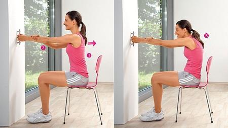 Extension de l'épaule : exercice pour étirer le haut du corps et les muscles des épaules - Extension de l'épaule : exercice pour étirer le haut du corps et les muscles des épaules