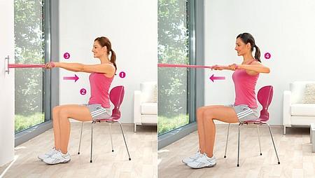 Extension de l'épaule : exercice pour renforcer les muscles du haut du dos et de l'épaule postérieure - Extension de l'épaule : exercice pour renforcer les muscles du haut du dos et de l'épaule postérieure
